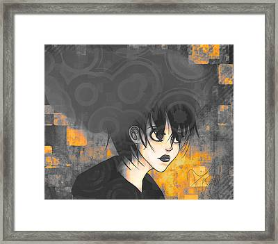Thought Processes 3 Framed Print by Amanda Yauch