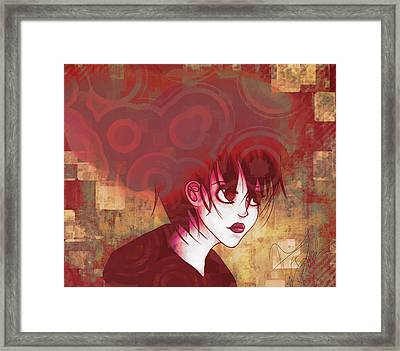 Thought Processes 4 Framed Print by Amanda Yauch