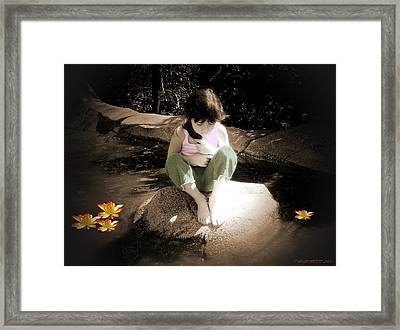 Thoughts Framed Print by Cindy Marcotte