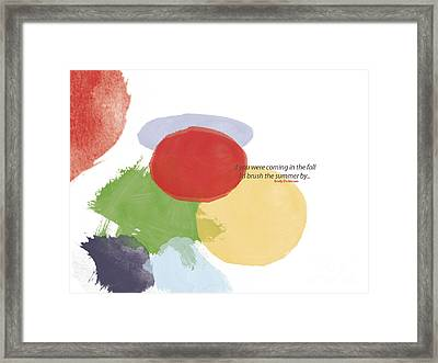 Thoughts Of Emily Dickinson Framed Print by Trilby Cole