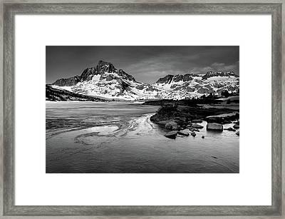 Thousand Island Lake, Mt. Ritter And Banner Peak Framed Print by David Kiene