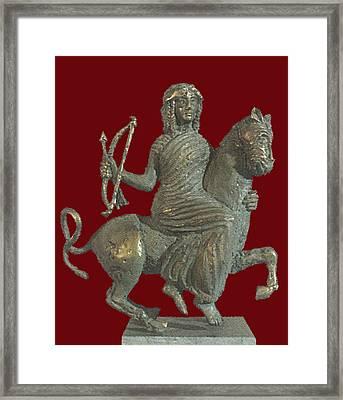 Thracian Goddess Framed Print by Zlatan Stoilov