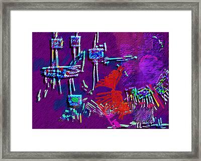 Threads Framed Print by Mathilde Vhargon