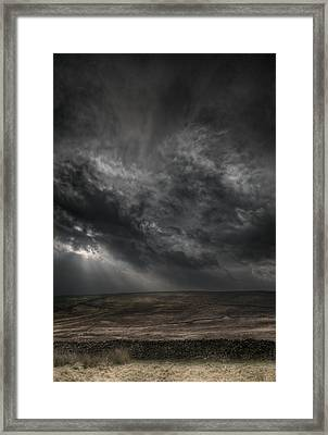 Threatening Skies Framed Print