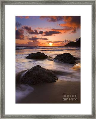 Three Against The Tide Framed Print
