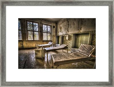 Three Beds Horror Framed Print by Nathan Wright