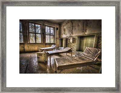 Three Beds Horror Framed Print