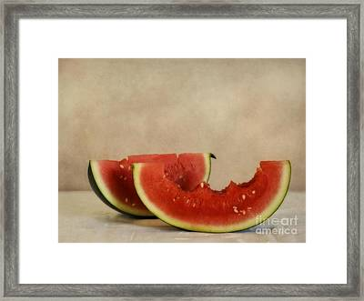 Three Bites Of Summer Framed Print by Priska Wettstein