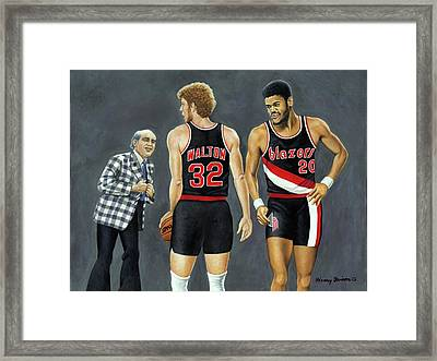 Three Champs Framed Print by Henry Frison