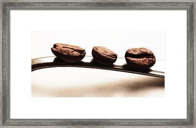 Three Coffee Beans Framed Print by Falko Follert