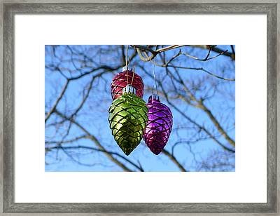 Framed Print featuring the photograph Three Cones by Richard Reeve