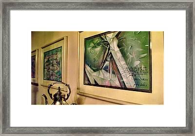 Three Cut Torn Folded 85-91 Framed Print by Glenn Bautista