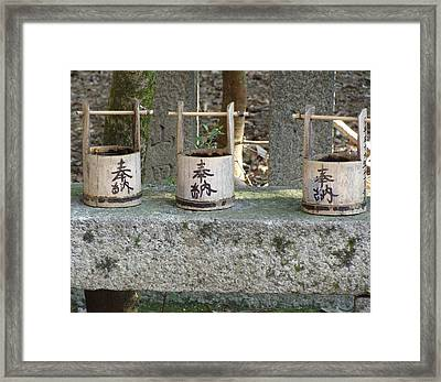 Three  Framed Print by Emma Manners