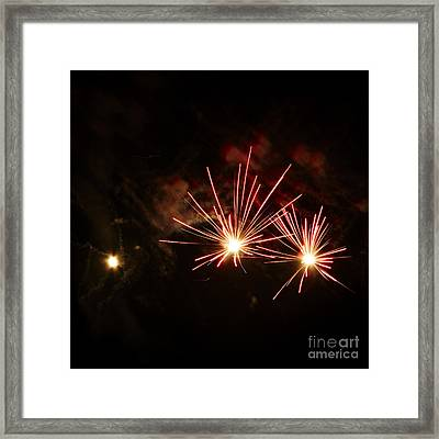 Three Explosions Framed Print by Agusti Pardo Rossello