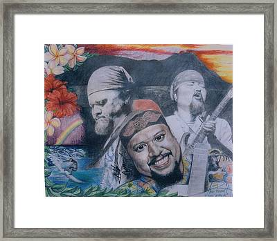Three Faces Of Willie K Framed Print