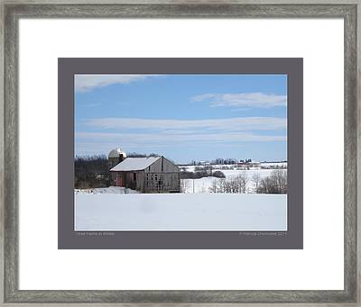 Framed Print featuring the photograph Three Farms In Winter by Patricia Overmoyer