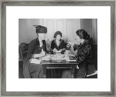 Three Feminists Activists Framed Print by Everett