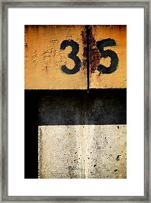 Three Five Split Framed Print by Odd Jeppesen