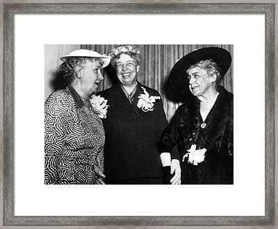 Three Former First Ladies, L-r Bess Framed Print by Everett