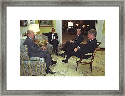 Three Former Presidents Gerald Ford Framed Print by Everett