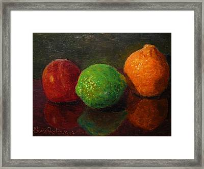 Three Fruit Framed Print
