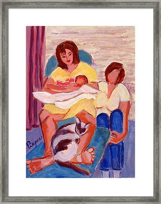 Three Generations Framed Print by Elzbieta Zemaitis