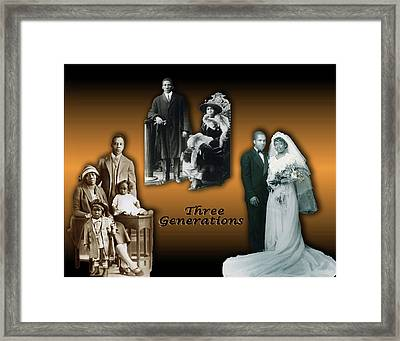 Three Generations Framed Print by Terry Wallace