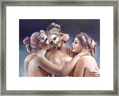 Three Graces Detail Framed Print by Geraldine Arata