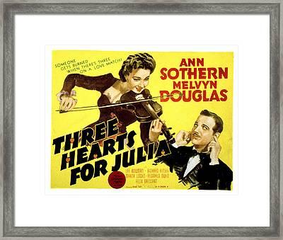 Three Hearts For Julia, Ann Sothern Framed Print by Everett