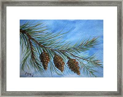 Three In A Row Framed Print by Misty Mueller