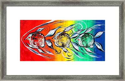 Three In A Row ... Three Framed Print by J Vincent Scarpace