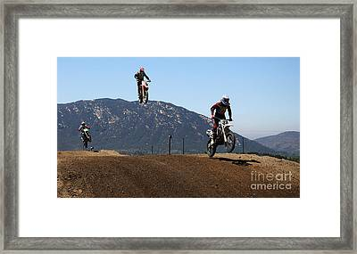 Three In The Air Framed Print