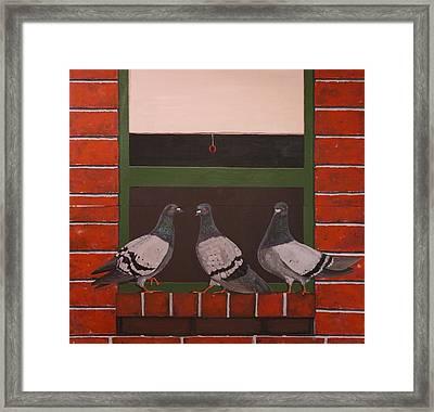 Three Ladies       Diptych Framed Print