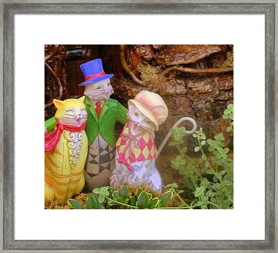 Three Little Kitten Who Lost Their Mittens Framed Print by Mindy Newman