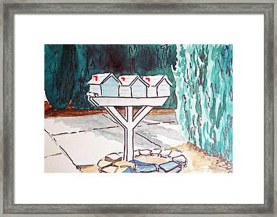 Three Mailboxes Sketchbook Project Down My Street Framed Print by Irina Sztukowski