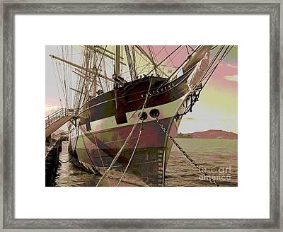 Three Masted Schooner Balclutha Framed Print by Padre Art