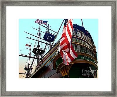 Three Masted Ship Framed Print