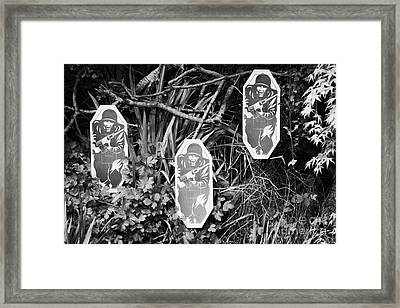 Three Military Type Paper Targets Arranged For Shooting Practice Framed Print by Joe Fox