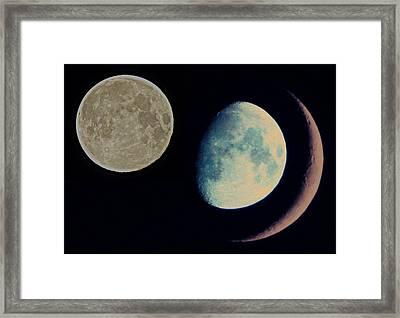 Three Moon Framed Print by Marianna Mills