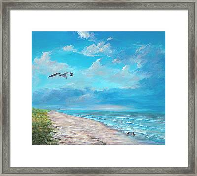 Framed Print featuring the painting Three O'clock by AnnaJo Vahle