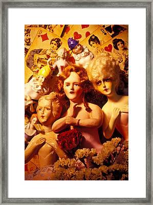 Three Old Dolls Framed Print by Garry Gay