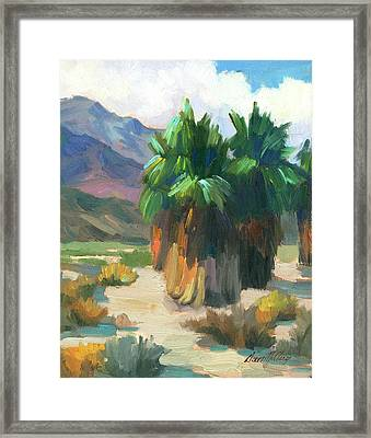 Three Palms Framed Print