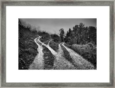 Three Paths Meet Framed Print