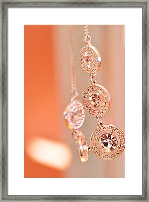 Three Piece Necklace In Colour  Framed Print by Puzzles Shum