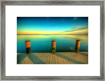 Three Pillars Framed Print by Photograph by Arunsundar