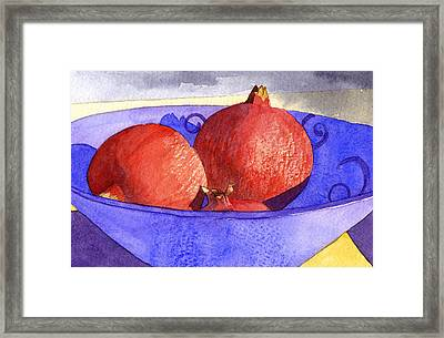 Three Poms Framed Print by Eunice Olson