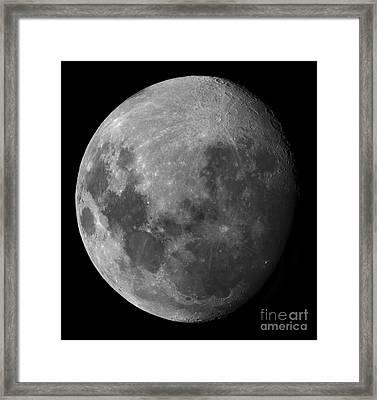 Three Quarter Moon Framed Print