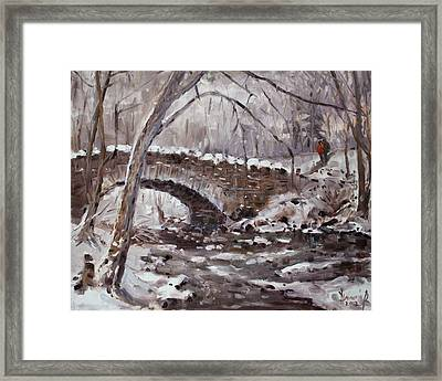 Three Sister's Islands Bridge Framed Print
