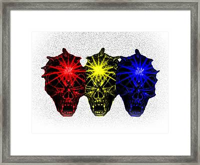 Framed Print featuring the photograph Three Skulls by Blair Stuart