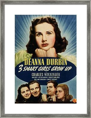 Three Smart Girls Grow Up, Deanna Framed Print by Everett
